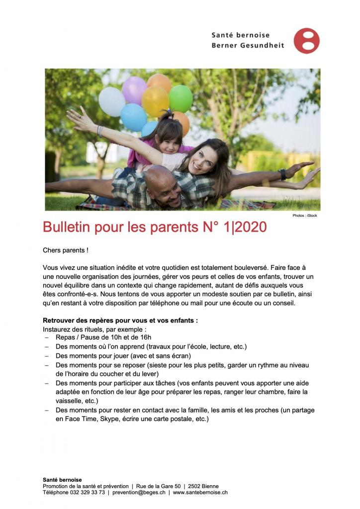 Bulletin parents Bernoise 2.4.20 p.1